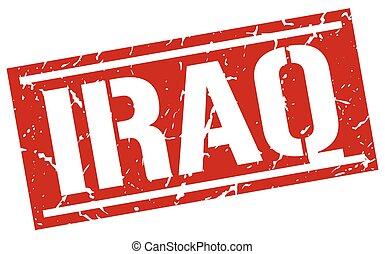 Iraq red square stamp