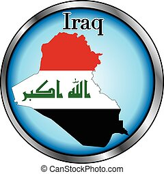 Iraq Round Button
