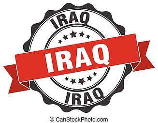 Iraq round ribbon seal