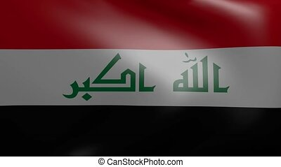iraq strong wind flag
