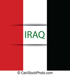 Iraq text on special background allusive to the flag