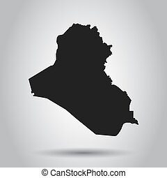 Iraq vector map. Black icon on white background.