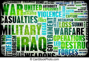 Iraq War as a Grunge Abstract Background