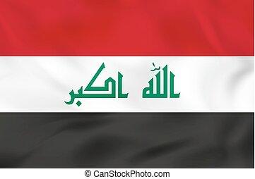 Iraq waving flag. Vector illustration.
