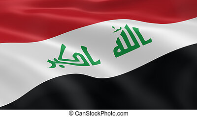 Iraqi flag in the wind. Part of a series.