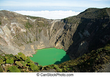 Detail of the Irazu Volcano Crater in Costa Rica
