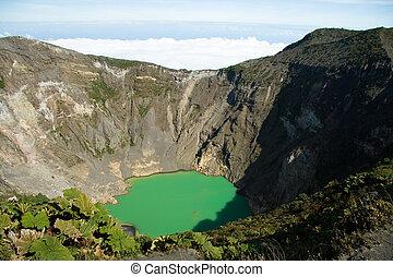 Irazu Volcano in Costa Rica - Detail of the Irazu Volcano...