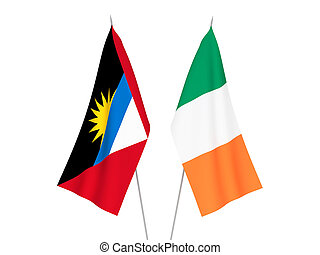 Ireland and Antigua and Barbuda flags - National fabric ...