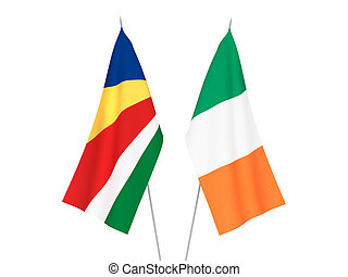 Ireland and Seychelles flags - National fabric flags of ...