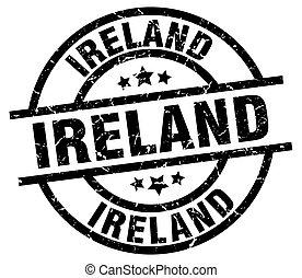 Ireland black round grunge stamp