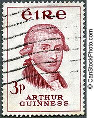 IRELAND - CIRCA 1959: stamp printed in Ireland shows Arthur...