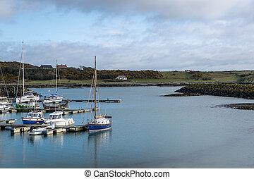 Ireland coastal Marina