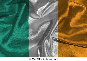 Ireland flag 3D illustration symbol.