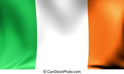 Ireland Flag. Background Seamless Looping Animation.