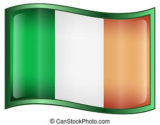 Ireland Flag Icon, isolated on white background.
