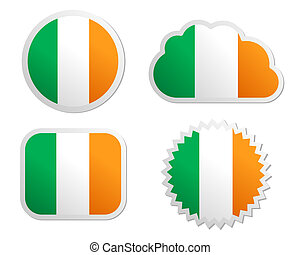 Ireland flag labels