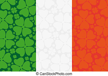 Ireland flag leaf clover