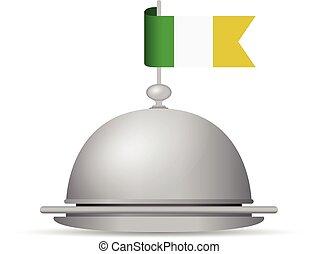 ireland flag platter