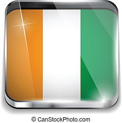 Ireland Flag Smartphone Application Square Buttons