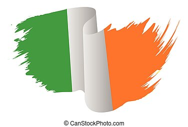ireland flag vector symbol icon design. Irish flag color illustration isolated on white background.