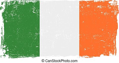 ireland flag vector.eps - Ireland vector grunge flag...