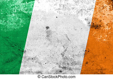 Ireland Flag with a vintage and old look