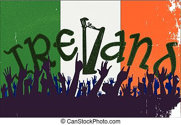 Ireland Flag with Audience