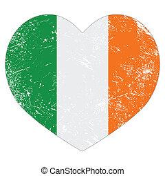 Ireland heart retro flag St Patrick