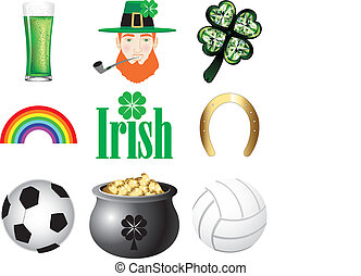 Ireland Icons - Vector Illustration for Ireland. Irish...