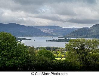 Ireland Killarny Lake on cloudy day