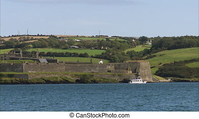 Ireland landscape and blue waters - A beautiful scenic wide...