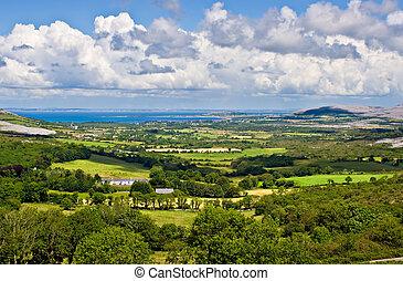 Ireland Landscape - Landscape of County Clare, Ireland....