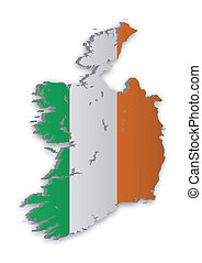 Ireland Map 2 - A simple 3D map of Ireland.