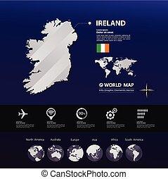Ireland Map vector
