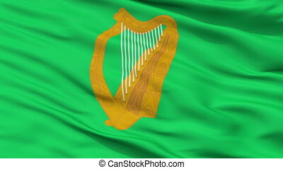 Ireland Naval Jack Flag Closeup Seamless Loop - Naval Jack...