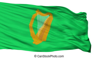 Ireland Naval Jack Flag Isolated Seamless Loop - Naval Jack...