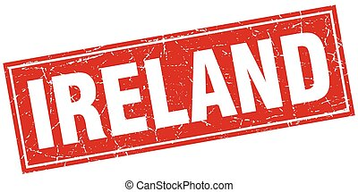 Ireland red square grunge vintage isolated stamp