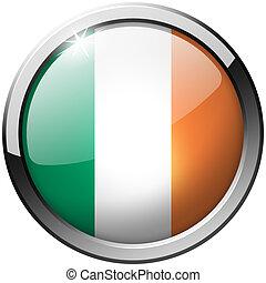 Ireland Round Metal Glass Button