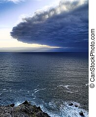 Ireland seashore at Dingle peninsula - Approaching dramatic...