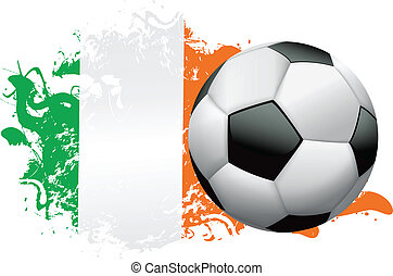 Ireland Soccer Grunge Design - Soccer ball with a grunge...