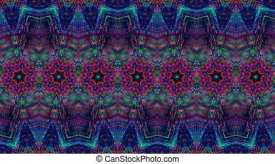 iridescent, arrière-plan., géométrique, transformer, branché, glitch, numérique, compilation., nostalgique