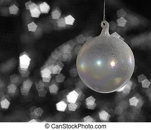 iridescent Christmas bauble - multicolored translucent...