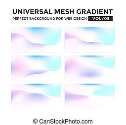 Iridescent colored universal mesh gradient