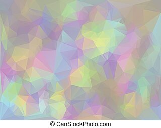 Iridescent Geometric Background - Trendy stylized iridescent...