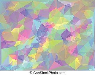 Iridescent Geometric Background - Trendy stylized iridescent...