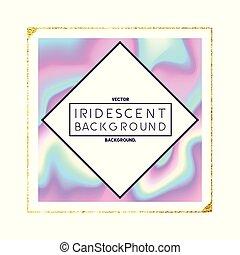 Iridescent Holographic Frame Design