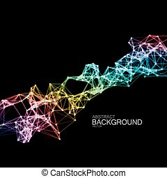 Iridescent Plexus Lines And Particles Background.