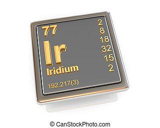 Iridium. Chemical element.