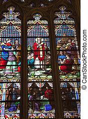 iriish, 聖者, ステンドグラス, st. 。, patrick\\\'s, 大聖堂, ニューヨークcit