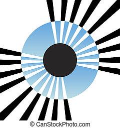 iris, abstract, oog
